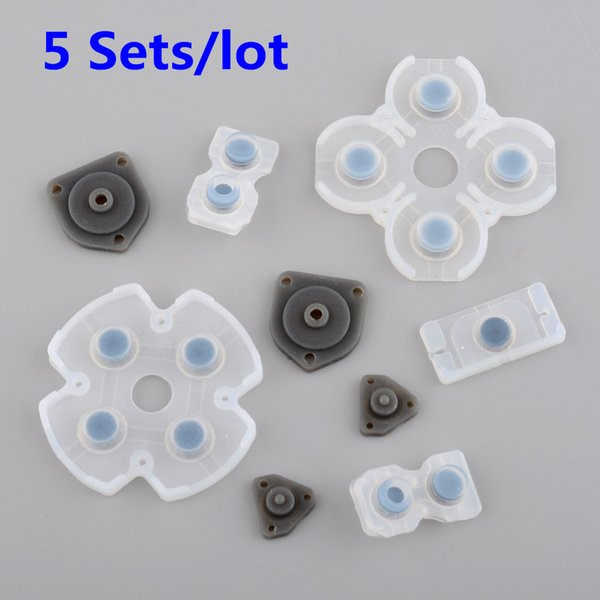 5sets=45pcs Soft Rubber Replace Silicone Conductive Adhesive Button Pad keypads for Sony PS4 PlayStation 4 DualShock Controller