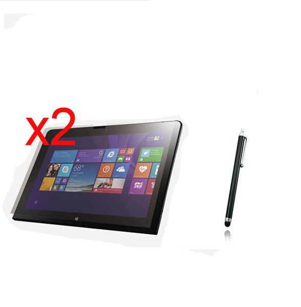3in1 2x LCD Clear Screen Protector Films Protective Film Guards +1x Stylus Touch Pen For Lenovo ThinkPad 10 10.1