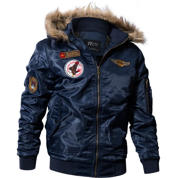 Men Winter Jacket Outwear fleece thick warm cotton down coat waterproof windproof parka men brand clothing Green Black Blue M-4XL