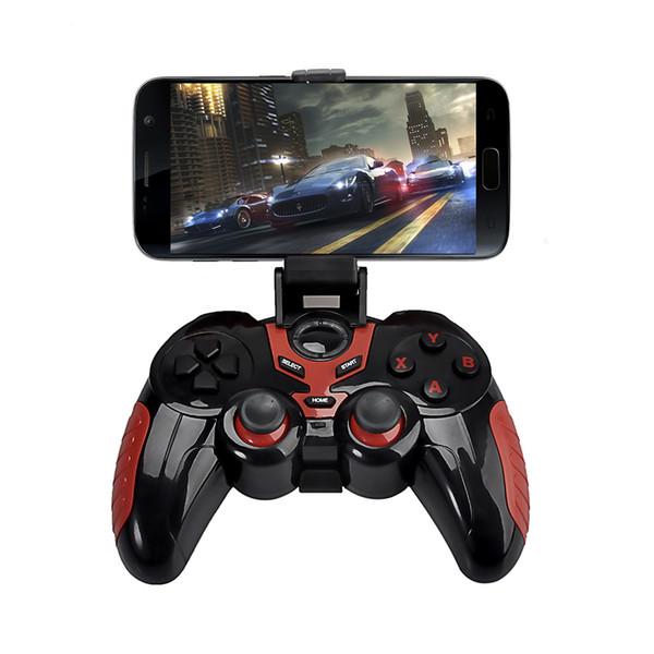 Android bluetooth gamepad para android smart phone tv caixa joystick sem fio bluetooth joypad controlador de jogo com suporte livre