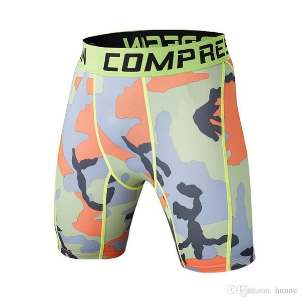Wholesale-Newest Summer Army Compression Tights Shorts Men Spandex Quick Dry ball Shorts Exercise Wear Vansydical 2016 New