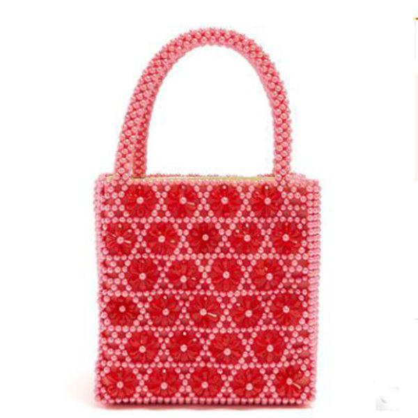 Perlen Geldbörsen Kristall Frauen Luxus Blume Großhandel Weibliche Vintage Stricken Handtaschen Design Abendtaschen Tasche Handtasche Lady Peal SMVqzpU