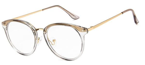 Мода Женщины Старинные Глаз Очки Кадр Мужчины Круглые Очки Прозрачные Очки Оптические Рамки Очки Oculos
