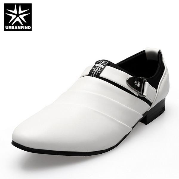 URBANFIND Business Hommes Chaussures formelles Homme Noir / Blanc Oxfords EU 39-44 Dernier Style Bout Pointu Slip On Hommes Mode Appartements