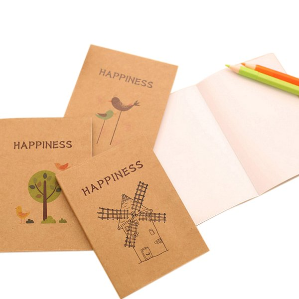 12pcs/lot Retro birds and flowers Craft Paper Notepad Diy Korea Handwritten sketches supplied for Student School Office