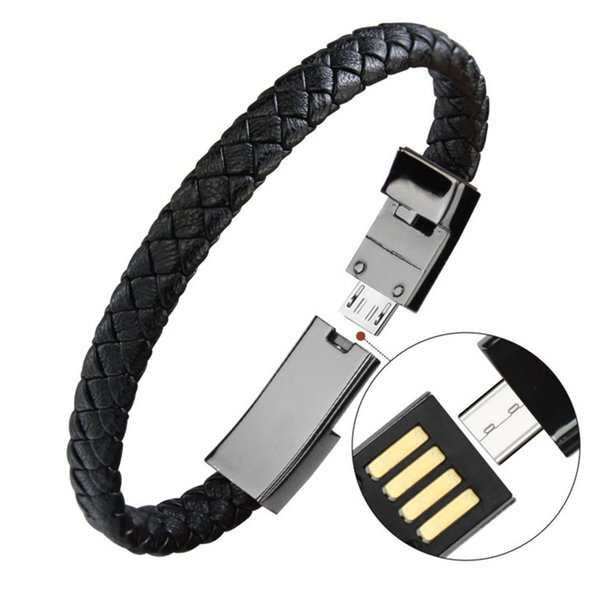 Braided Bracelet Wrist Lightning Cable Data Bracelet Charging Cord for apple phone,Genuine Leather Charger Cuff USB