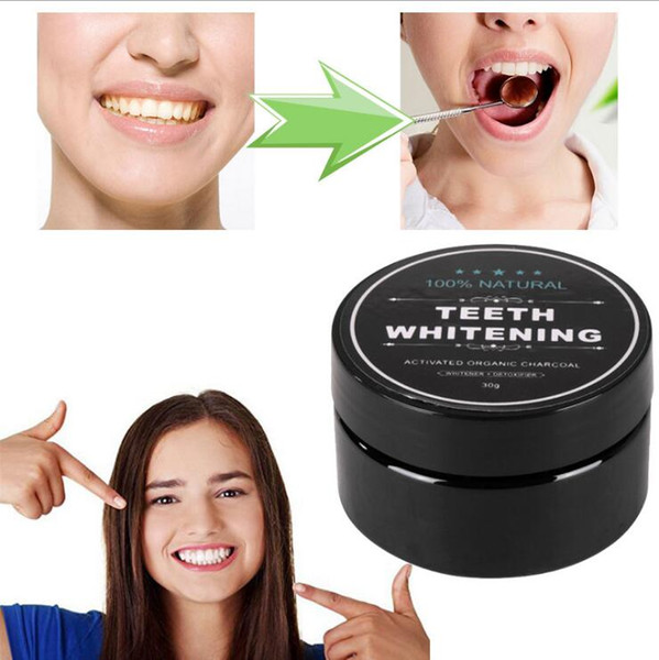 top popular Teeth Whitening Powder 100% Natural Bamboo Activated Charcoal Smile Powder Decontamination Tooth Yellow Stain Bamboo Toothpaste 30g good 2021