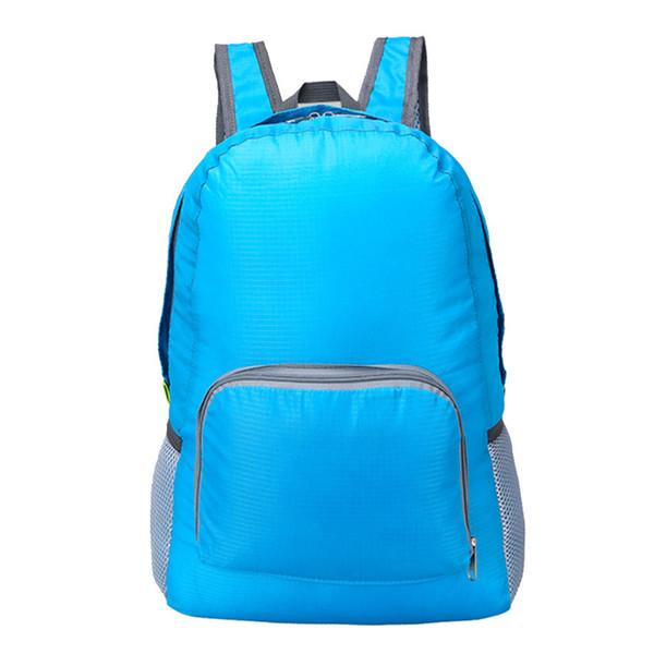 Foldable Backpack Waterproof Nylon Lightweight Sports Bags Women Men Children Skin Pack Travel Camping Hiking Bag Rucksack