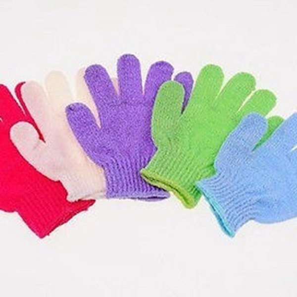 4pcs Bath Shower Cleaner Gloves Home Bathroom Soft Skin Body Scrub cotton scrubber for wash bathroom product factory selling