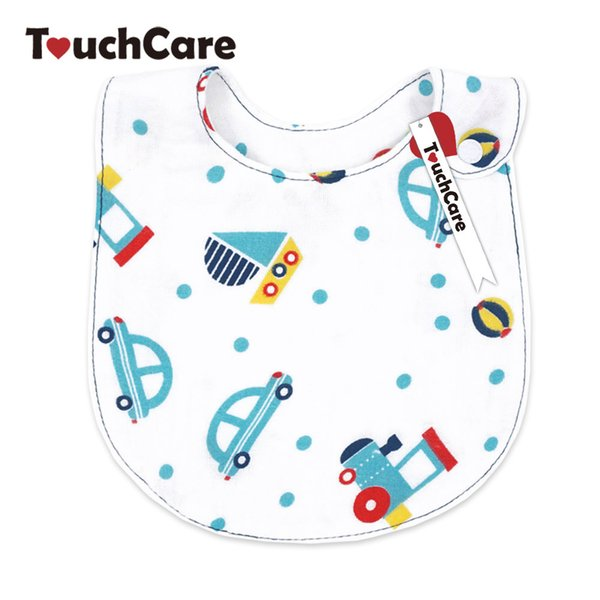 TouchCare Cute Cartoon Animal Baby Boy Girl Bibs Infant Soft Cotton Toddler Burp Cloth Waterproof Newborn Saliva Scarf Towel