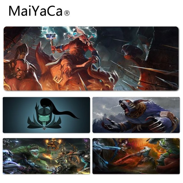 MaiYaCa Vintage Cool Dota2 Image Keyboard Gaming MousePads Size for 30x70cm 30x90cm Rubber Mousemats