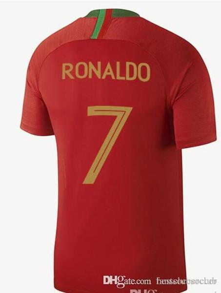 official photos 22358 cf0ee 2018 New 2018 Portugal World Cup Jerseys Ronaldo J.Mario Nani Quaresma Eder  Football Shirts 18 19 Portugal National Team Home Away Soccer Jerseys From  ...