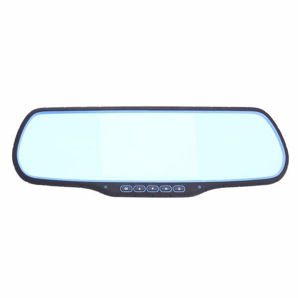 "5"" Dual Lens High Definition 1080P Car DVR GPS Navigation Rearview Mirror Camera w/ FM Transmitter WIFI Function Auto Dashcam"