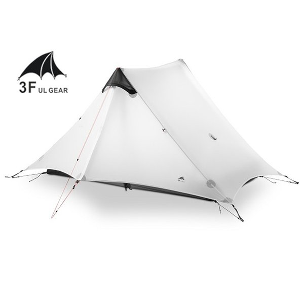 2019 2018 LanShan 2 3F UL GEAR 2 Person Oudoor Ultralight Camping Tent 3 Season Professional 15D Silnylon Rodless Tent 4 Season