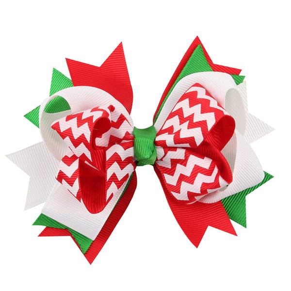 Quenya 새 12cm 아기 활 머리 클립 크리스마스 Grosgrain 리본 활 눈으로 아기 소녀 바람개비 머리 핀 크리스마스 헤어핀 액세서리 선물
