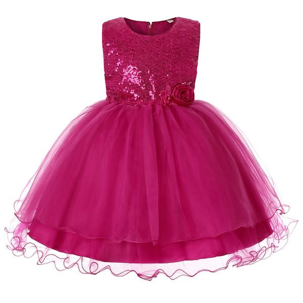 2019 vêtements pour enfants jupe enfants paillettes princesse robe fille robe de soirée jupe filles défilé spectacle mariage tutu