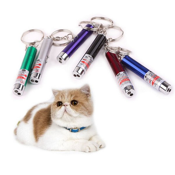 top popular LED Light Laser Toys Tease Cats Rods Red Laser Pen Funny Interactive Goods For Pets Visible light Laserpointer 2021