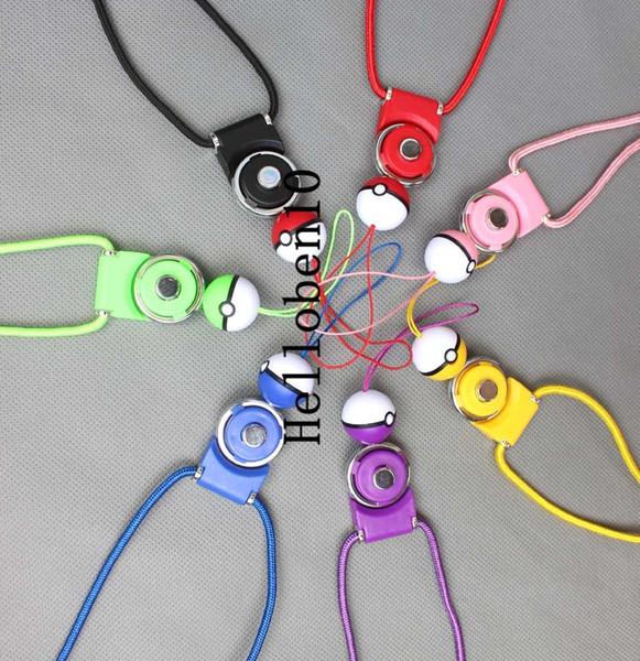 Multi Colors Rhinestone Necklace phone LANYARD Key chain for ID Badge Holder