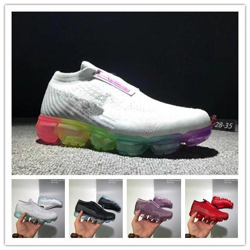 2018 air Cushion Rainbow BE TRUE Shock Kids Running Shoes Fashion black Casual Designer Maxes Sports Shoes free shipping size 28-35