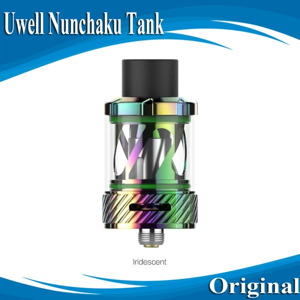 200% Authentic Uwell Nunchaku Tank Atomizer with 5ml e-Juice Capacity Plug-Pull Coils Separate Condensation Holder E Cig DHL Free