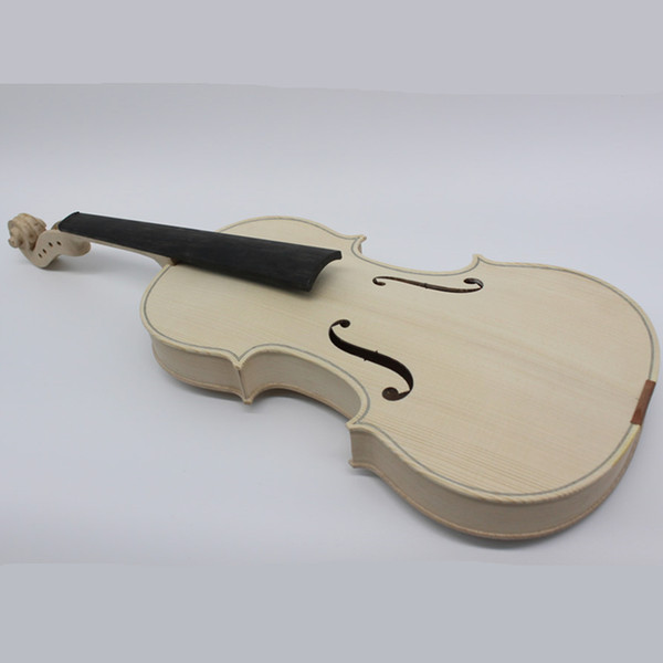 best selling High Quality Unfinished Only White Violin Selective 10 Years Natural Dried Maple Back Spruce Top Handmade Violino