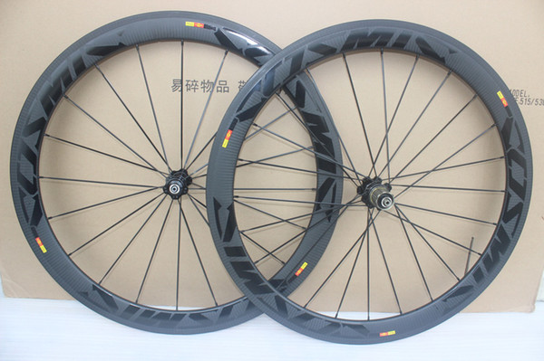 glossy decal cosmic slr Racing Bicycle carbon wheels 50mm Carbon Road Bike Wheelset clincher 23mm width with basalt brake surface