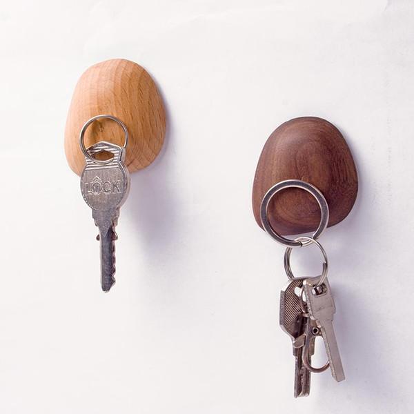 Nordic Black Walnut Wood Modern Design key Wall sticker Door stone Robe Hook Rack for corridor room bathroom bedding room Rails