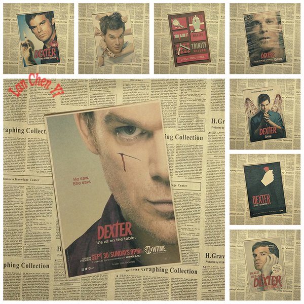 Classic Movie Dexter Michael C. Hall Kraft Paper Poster High quality Printing Drawing core Decorative Painting