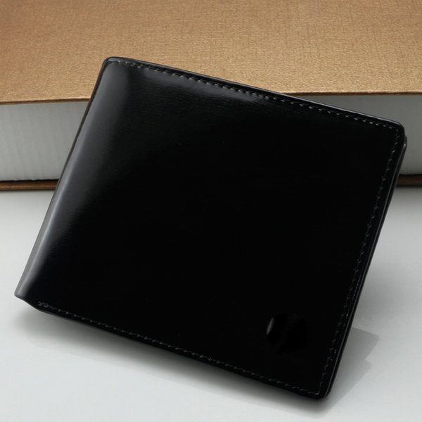 Großhandel Männer Neue Luxus Mode Mb Echtes Leder Visitenkartenetui Hell Schwarz Kurze Brieftasche Quadratischen Kartenhalter Kreditkartenfach Von