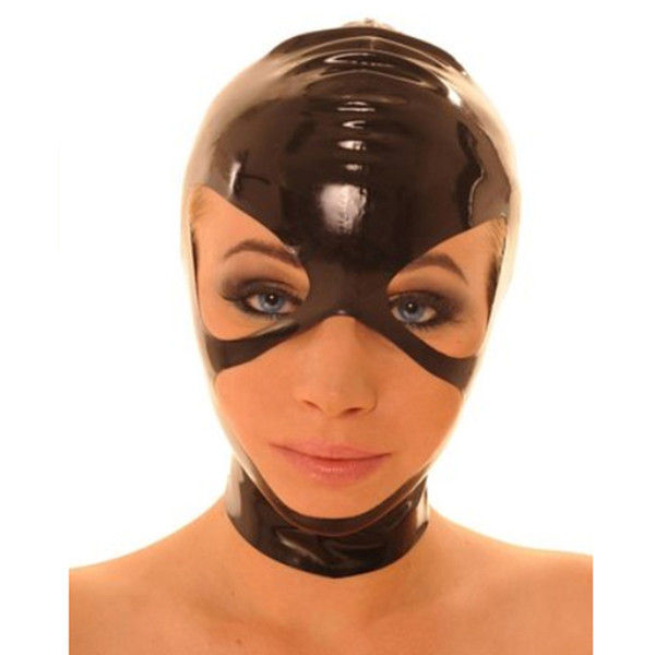 100% Pure Latex Hoods Half Face Mask Rubber Fetish Cosplay Party Wear