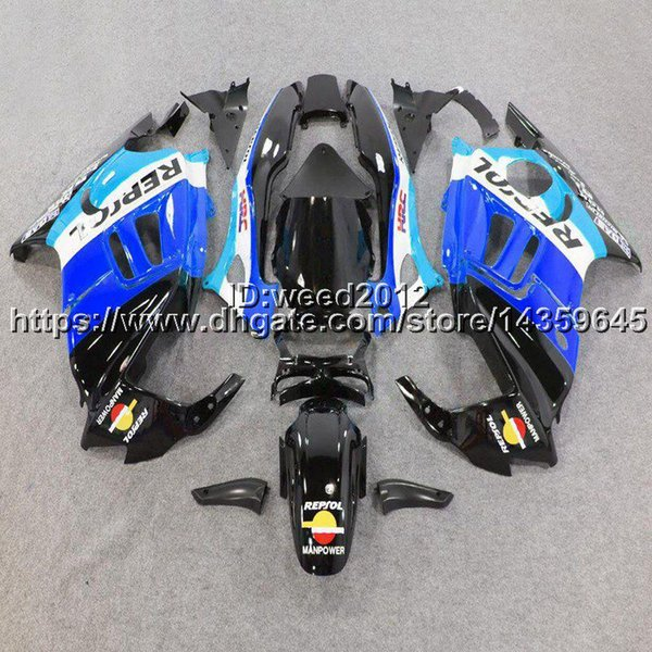 23colors+5Gifts+Custom repsol blue motorcycle body kit ABS Plastic for HONDA CBR600F3 1997-1998 F3 97 98 Fairing