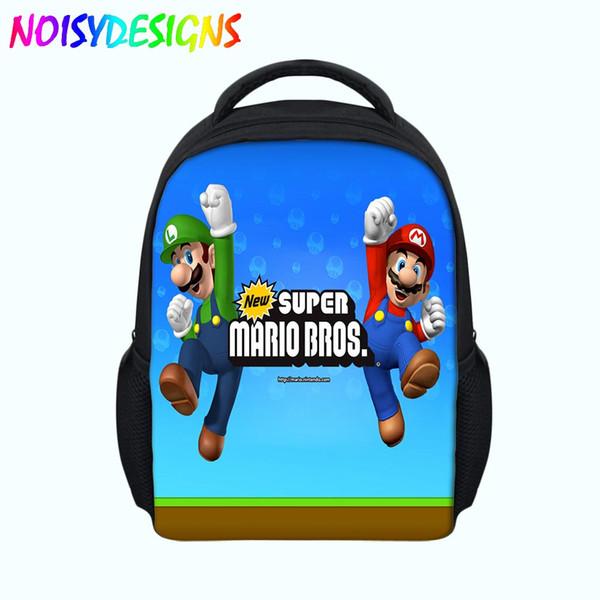 Children's Backpacks For Girls Boys Cartoon Super Mario Orthopedic Backpack Baby's Satchel Kids Bags escolar School Bag