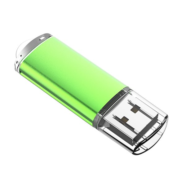 J-boxing Green Rectangle 32GB USB 2.0 Flash Drives Enough Memory Sticks 32gb Flash Pen Drive for PC Laptop Macbook Tablet Thumb Storage