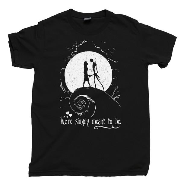Christmas Shirt Sayings.Jack Sally T Shirt Simply Meant To Be Nightmare Halloween Christmas Tee T Shirt Sayings Retro T Shirt From Crazytshirt 13 19 Dhgate Com