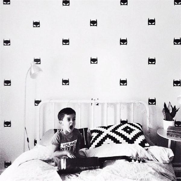 Grosshandel 40 Teile Satz Ins Nordischen Stil Wandaufkleber Batman Kinderzimmer Dekoration Paste Pvc Wandaufkleber Zuruck Boden Wand Dekoration Von