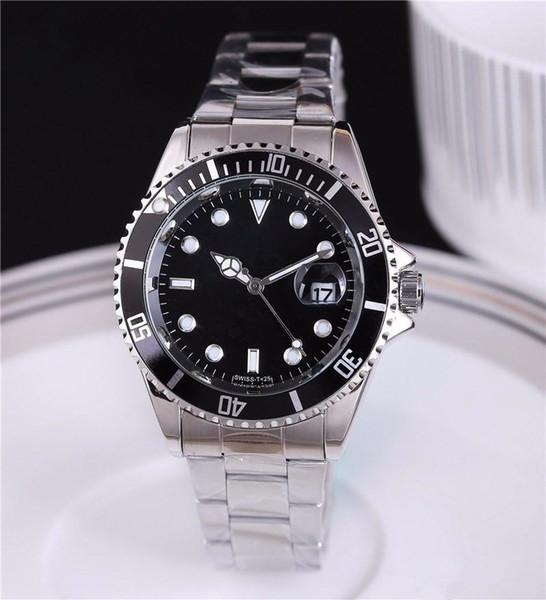 Relogio masculino high-end dos homens relógios de Luxo wist moda Black Dial Com Calendário Bracklet Folding Fecho Mestre Masculino relógios giftluxury