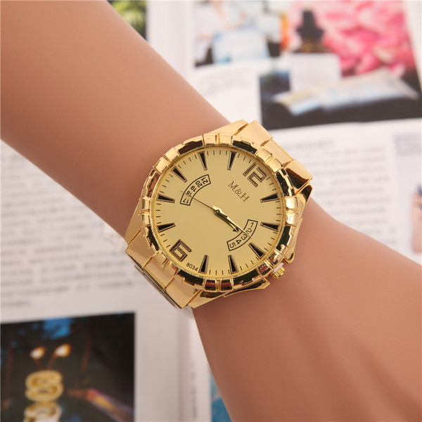 2018 Classic model man Military watch Stainless steel luxury Casual popular wristwatch quartz watches clock male brand watch