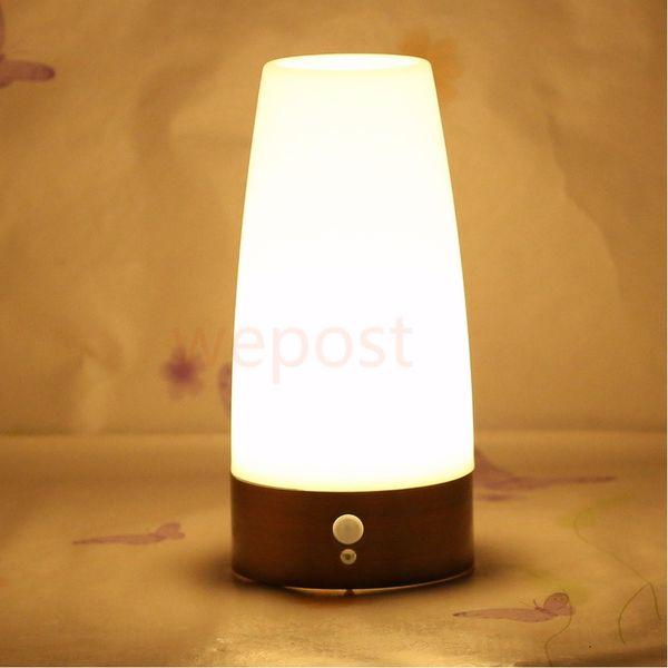 Luz PIR Dormitorio Noche Sensor Romántico Caliente Mesa De Venta De Lámpara Movimiento Vela Retro Pilas Cilindro Luz Con Compre De De LED La FJlK3Tcu1