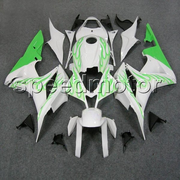 colors+Gifts Injection mold green flames motorcycle Fairing for HONDA 2007 2008 CBR600RR F5 07-08 ABS plastic kit