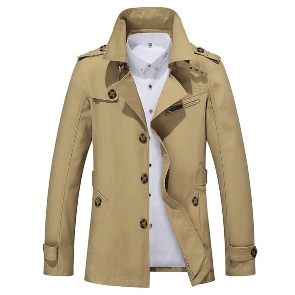 Großhandel Legbar Herren Trenchcoat Fashion Designer Männer Mantel Herbst Dünne Marke Winter Herren Jacke Baumwolle Windjacke Männer Graben 4XL Von
