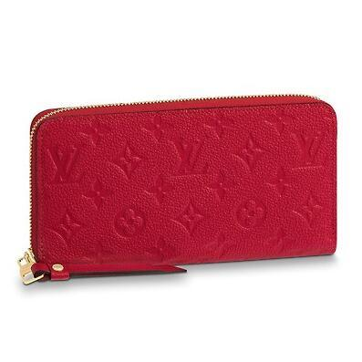 2019 M63691 ZIPPY WALLET red Embossing Real Caviar Lambskin Chain Flap Bag LONG CHAIN WALLETS KEY CARD HOLDERS PURSE CLUTCHES EVENING