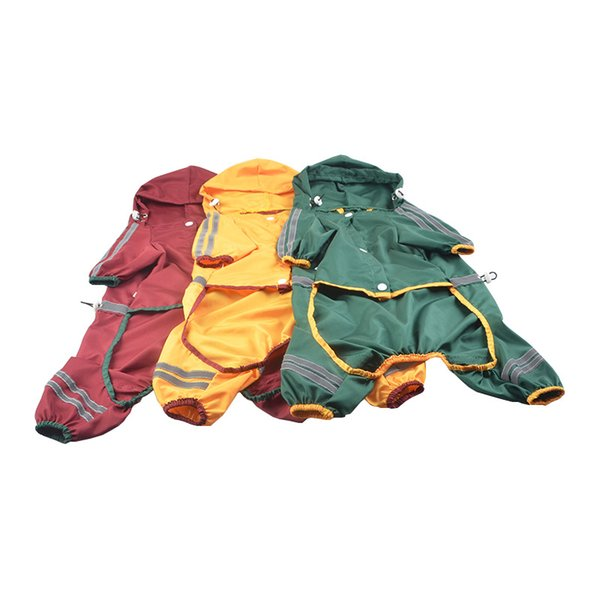 Puppy Raincoat Dog Cool Raincoats With Cap Hoody Waterproof Clothing Lovely Jackets Coat Pet Apparel Clothes For Dogs Free Shipping