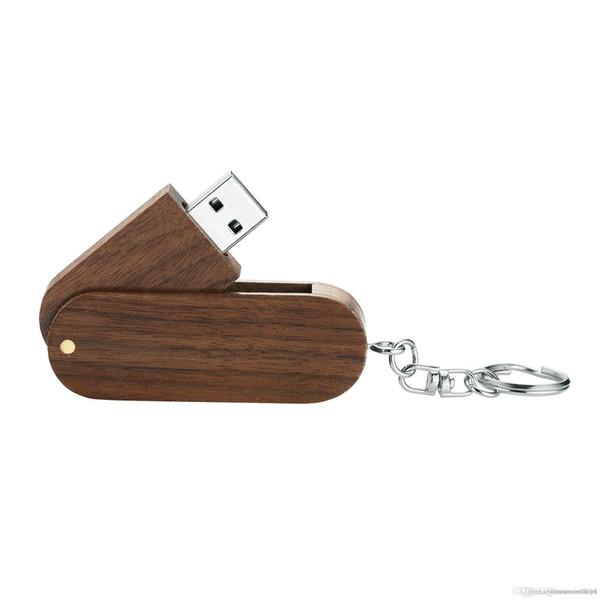 Nouvelle marque Rotation en bois massif haute vitesse USB 2.0 clé USB Memory Stick 8 Go 16 Go 32 Go Pendrive Thumb Disk avec boîte en bois e93