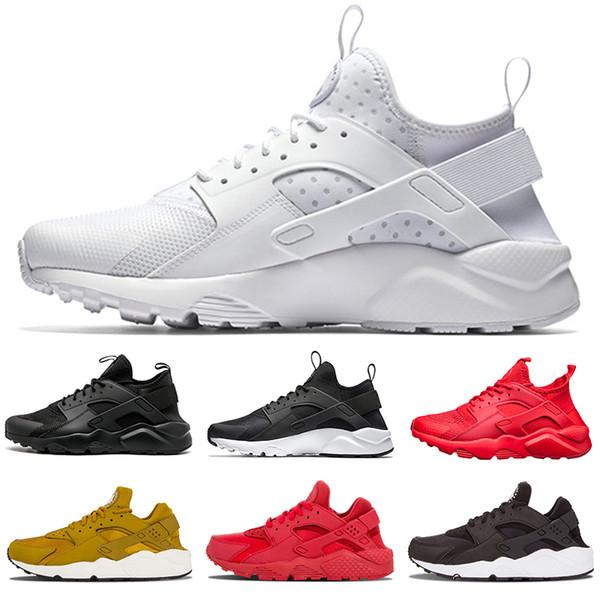 half off 8c88a 18ba4 nike air huarache shoes Gros Huarache 1 Chaussures de course Hommes Femmes  Classique Gris Or Triple