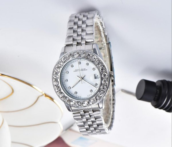luxury ladies cute watches flower Full diamond gold watch rhinestone women Designer automatic wristwatches bracelet clock