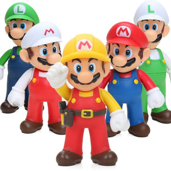 Classical Super Mario Bros Yoshi Luigi Mario PVC Action Figures Toys 12cm Collection Model Funny Anime Figures Kids Toy For Children