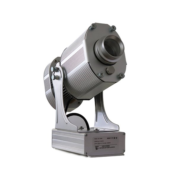 OUTDOOR Aluminiumlegierung Silber 10000lm LED Gobo Projektor Wasserdichte 80W LED Sginle Image Static Image Projektor Licht mit Full Color Gobos