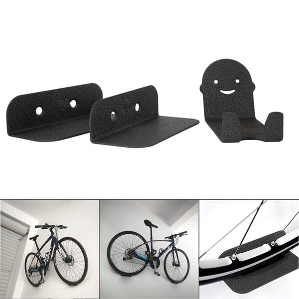 3 PC an der Wand befestigte Fahrrad-Stand-Stahl-Stützrad-Radfahrenpedal-Reifen-Speicher-Aufhänger-Gestell ALS88