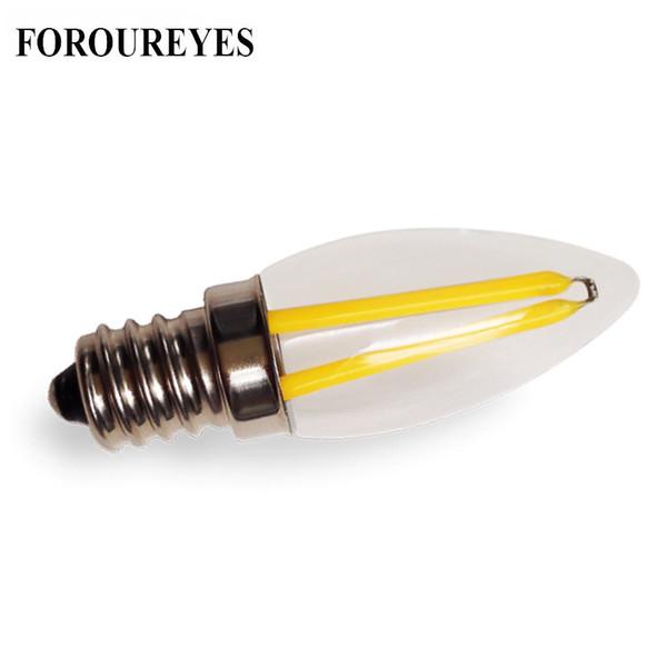 E12 LED Lamp 220V 110V 1.5W Filament COB Bulb Refrigerator Light Candelabra Base Chandelier Replace Halogen Lighting