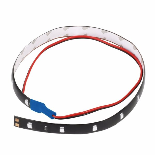 New Waterproof 30CM 15LED Super Bright Auto Car Strip Light Flexible Daytime Running Motorcycle Truck Car Strip Light Lamp